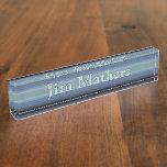 HAMbyWhiteGlove - Desk Name Plate - Gray-Blue