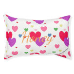HAMbyWhiteGlove - Dog Bed - Multi-Color Hearts
