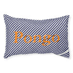 HAMbyWhiteGlove - Dog Bed - Navy White Diag.