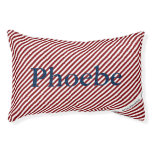 HAMbyWhiteGlove - Dog Bed - Red White Diagonal