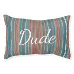 HAMbyWhiteGlove - Dog Bed - Teal & Rust Bar Stripe