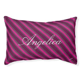 HAMbyWhiteGlove Fuschsia Stripe Dog Bed