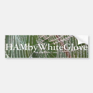 HAMbyWhiteGlove Web - Bumper Sticker