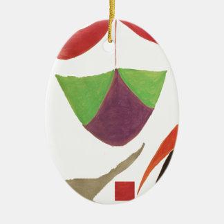 hameaha adorno ovalado de cerámica