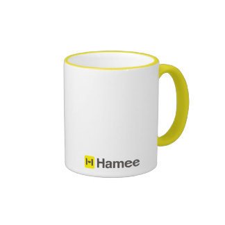 Hamee logographic design magnetic cup (Yellow/Whit