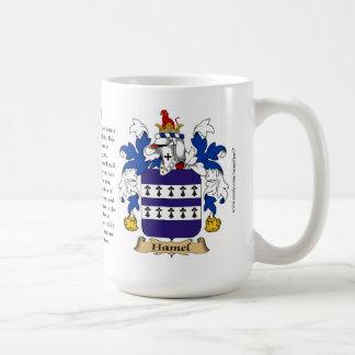 Hamel, el origen, el significado y el escudo taza básica blanca