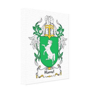 Hamel Family Crest Canvas Print
