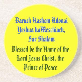 haMeschiach de Baruch Hashem Adonai Yeshua. Posavasos Para Bebidas