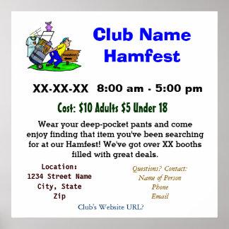 Hamfest Promotional Poster   Customize It!