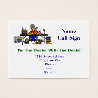 Hamfest Seller Customizable Business Cards