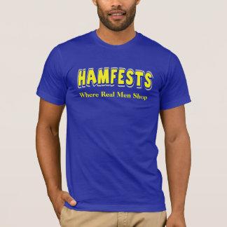 Hamfests Where Real Men Shop Ham Radio T-shirt