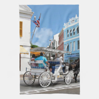 Hamilton Bermuda Carriage Ride Kitchen Towel