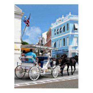 Hamilton Bermuda Carriage Ride Postcard