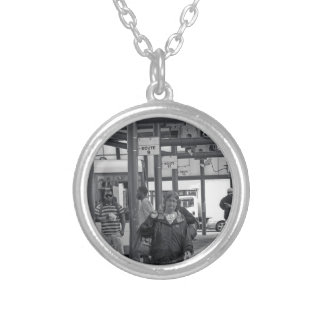 Hamilton Bus Station 02 Silver Plated Necklace