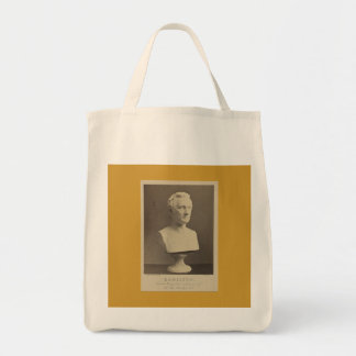Hamilton bust grocery tote grocery tote bag