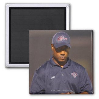 HAMILTON, CANADA - AUGUST 6: Head coach Bill 2 Inch Square Magnet