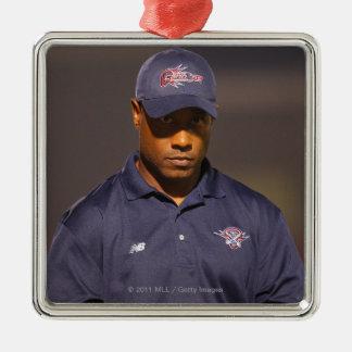 HAMILTON, CANADA - AUGUST 6: Head coach Bill Metal Ornament