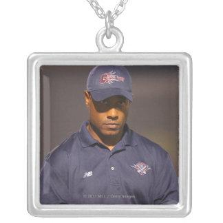 HAMILTON, CANADA - AUGUST 6: Head coach Bill Silver Plated Necklace