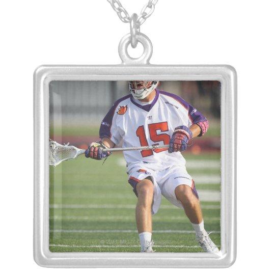 HAMILTON,CANADA - JULY1:  Dan Burns #15 2 Silver Plated Necklace