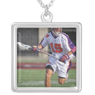 HAMILTON,CANADA - JULY1:  Dan Burns #15 Silver Plated Necklace