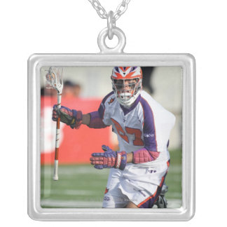 HAMILTON,CANADA - JULY1:  David Earl #27 4 Silver Plated Necklace