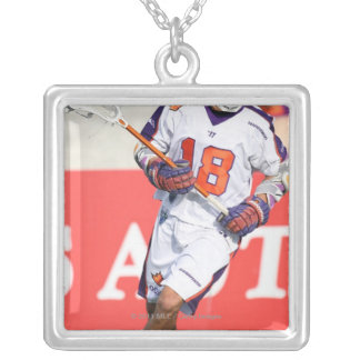 HAMILTON,CANADA - JULY1:  Jarrett Davis #18 Silver Plated Necklace