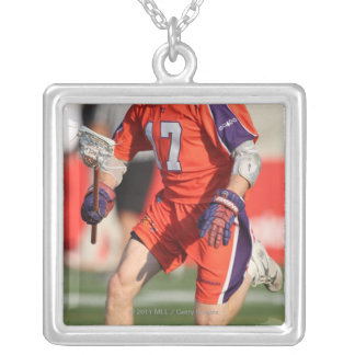HAMILTON,CANADA - JULY 16:  Brodie Merrill #17 Silver Plated Necklace