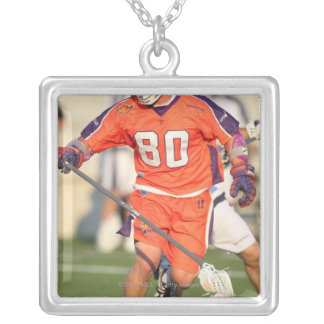 HAMILTON,CANADA - JULY 16:  Donny Moss #80 Silver Plated Necklace