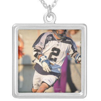 HAMILTON,CANADA - JULY 16:  Justin Smith #2 2 Silver Plated Necklace
