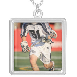 HAMILTON,CANADA - JULY 16:  Michael Kimmel #51 3 Silver Plated Necklace