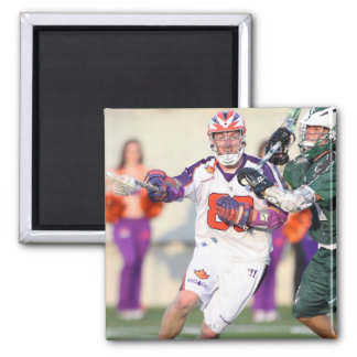 HAMILTON, CANADA - JULY 1:  Donny Moss #80 2 Inch Square Magnet