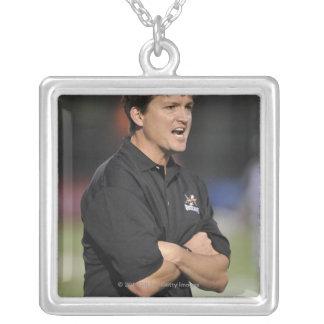 HAMILTON, CANADA - JUNE 18:  Head Coach Tom Silver Plated Necklace