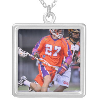 HAMILTON, CANADA - JUNE 25: David Earl #27 2 Silver Plated Necklace