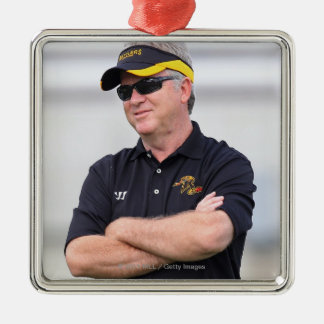 HAMILTON, CANADA - JUNE 25: Head coach B.J. Metal Ornament