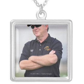 HAMILTON, CANADA - JUNE 25: Head coach B.J. Silver Plated Necklace