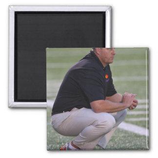 HAMILTON, CANADA - JUNE 25: Head coach Regy 2 Inch Square Magnet