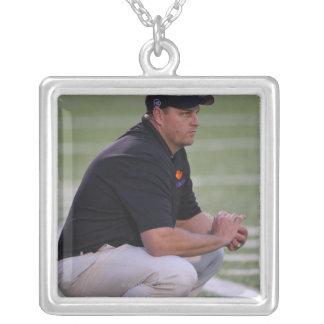 HAMILTON, CANADA - JUNE 25: Head coach Regy Silver Plated Necklace