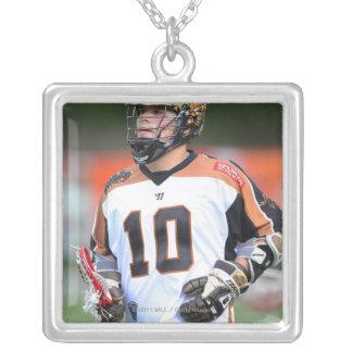 HAMILTON, CANADA - JUNE 25: Jordan McBride #10 4 Square Pendant Necklace