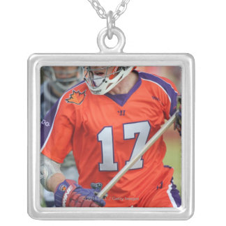 HAMILTON, CANADA - MAY 19:  Brodie Merrill #17 4 Silver Plated Necklace
