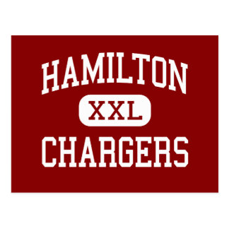 Hamilton - cargadores - centro - Hamilton Montana Tarjeta Postal