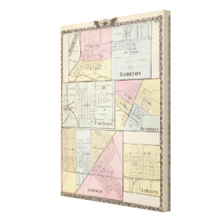 Hamilton, Carthage, Bushnell, Lincoln and LaHarpe Canvas Print