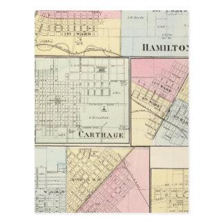 Hamilton, Carthage, Bushnell, Lincoln and LaHarpe Postcard