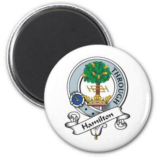 Hamilton Clan Badge 2 Inch Round Magnet