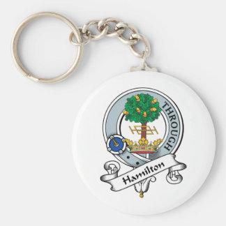 Hamilton Clan Badge Basic Round Button Keychain