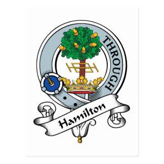 Hamilton Clan Badge Postcard