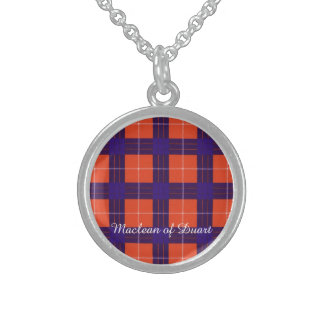Hamilton clan Plaid Scottish tartan Sterling Silver Necklace