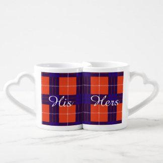 Hamilton clan Plaid Scottish tartan Couples' Coffee Mug Set