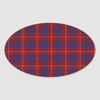 Hamilton Clan Tartan Oval Sticker