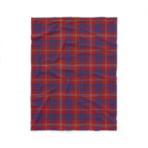 Hamilton Clan Tartan Plaid Fleece Blanket