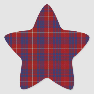 Hamilton Clan Tartan Star Sticker